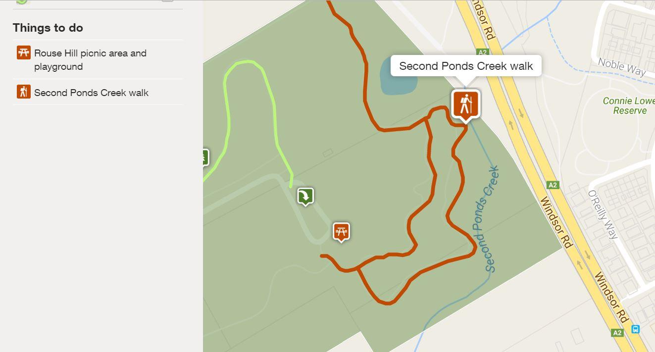 Rouse Hill Reginal Park Second Creek Walk